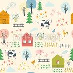 Farm Landschaft Rapportmuster