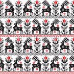 Bordado Oriental Design de padrão vetorial sem costura
