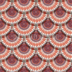 Ethnische Kreisskalen Musterdesign