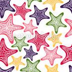 Starfish Gathering Seamless Vector Pattern Design
