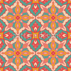 Hippie In India Seamless Vector Pattern Design