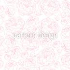 Sanfte Pfingstrosen Muster Design