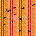 Vögel in Bäumen Nahtloses Vektormuster