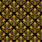 Eleganter Blumendamast Vektor Muster