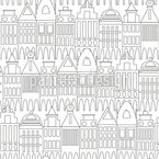 In My City Seamless Vector Pattern Design