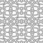 Descontornos Art Nouveau Design de padrão vetorial sem costura