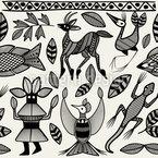Korhogo Kunst Vektor Muster