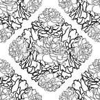 Rosentraum Schwarz Weiß Rapportiertes Design