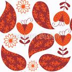 Herbst Paisley Vektor Muster
