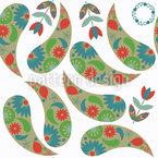 Frühling Paisley Vektor Design