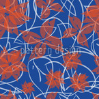 Autumnal flower Repeat Pattern