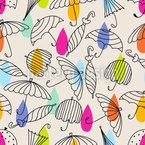 アウトライン傘 シームレスなベクトルパターン設計