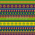 Aztekische Linien Designmuster