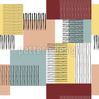 Brush Stripes And Squares Seamless Vector Pattern Design