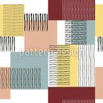 Pinselstreifen und Quadrate Vektor Design