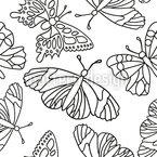 概説された蝶 シームレスなベクトルパターン設計