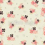 Kleine Blumenarrangements Muster Design