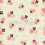 Tiny Flower Arrangements Seamless Vector Pattern Design