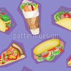 Fast Food Favoriten Vektor Ornament