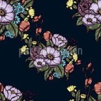 Moody Flowers Seamless Vector Pattern