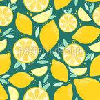 Sonnige und Saftige Zitronen Vektor Ornament