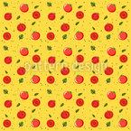 Reife Tomaten Nahtloses Vektor Muster