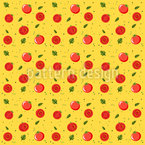Reife Tomaten Nahtloses Vektormuster