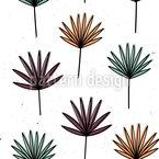 Palm Fächer Nahtloses Vektormuster