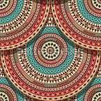 アステカ円スケール シームレスなベクトルパターン設計