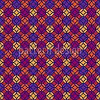 Verbundene Abstrakte Kreise Vektor Muster
