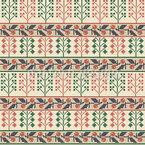 Palestinian Floral Bordures Seamless Vector Pattern Design