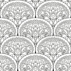Ready To Be Painted Out Seamless Vector Pattern Design