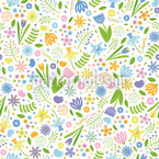 Arrangement Floral Seamless Vector Pattern Design