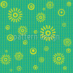 Sunshine Splashes Design de padrão vetorial sem costura