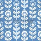 Nordic Summer Seamless Vector Pattern Design