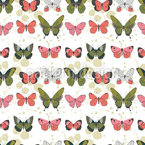Butterflies On A Row Seamless Vector Pattern Design