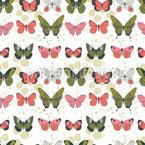 Schmetterlinge auf einer Reihe Nahtloses Vektormuster