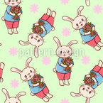 Bunnies with Flowers Repeat