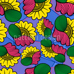Afrikanischer Wachsstoff Muster Design