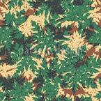Papaya Leaf Camouflage Seamless Vector Pattern Design