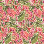 Doodle Summer Flora Seamless Vector Pattern