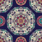 Floral Ethnic Mandalas Seamless Vector Pattern Design