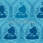 Calm Down With Buddha Seamless Vector Pattern Design