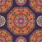 Ethnic Mandalas Seamless Vector Pattern Design