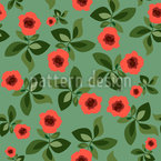 Pick The Rose Seamless Vector Pattern Design