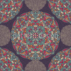 Umrissene Mandalas Rapportiertes Design