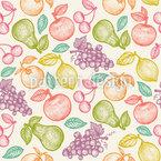 Süße Früchte Nahtloses Vektormuster