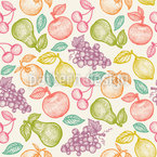 Sweet Fruits Seamless Vector Pattern Design