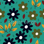 Graphical Floral Design Pattern