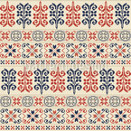 Palestinian Floral Stripes Seamless Vector Pattern Design